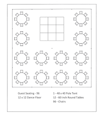 Round Table Seating Capacity 40 X 40 Pole Tent Seating Arrangements