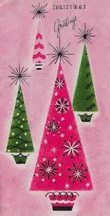Pink Christmas Card 5044 Best Christmas Cards Past Images In 2019 Vintage Holiday