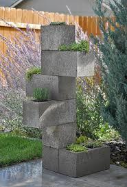 vertical cinder block planter 7