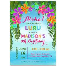 Luau Birthday P Fabulous Luau Party Invitation Template Free Cute