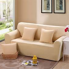 elastic sofa solid color full cover anti skid 4 seater protector couch cover armchair slipcover