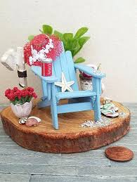 surprising miniature beach scene miniature chair dollhouse 2 mini adirondack chair favors