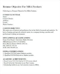 Fresher Objective In Resume Resume Objectives Free Sample Example
