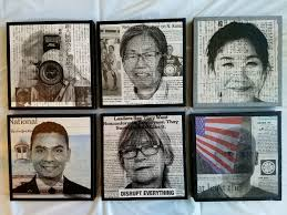 several of mike saijo s mixed media photographs from reconstructing memory portraits mike saijo