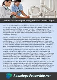 Radiology Fellowship Personal Statement Examples | Radiology Fellowship