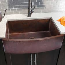 kitchen sink. Interesting Sink Hahn Copper Curved Front Single Bowl Farmhouse Sink To Kitchen