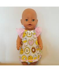 Online Cheap Baby Born Doll Clothes - Coffee and Donuts Nightgown