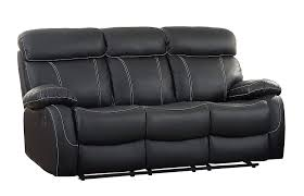 com homelegance 8326blk 3 pendu reclining sofa top grain leather match black kitchen dining