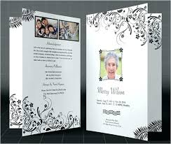 Funeral Program Word Template Interesting Sample Funeral Program Template Download Free Memorial Brochure