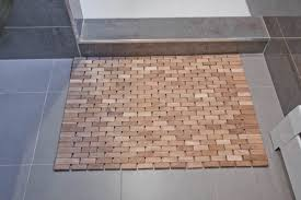 bathroom drop gorgeous bathroom bamboo shower mat the point pluses homesfeed wood bath drop gorgeous