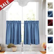 Curtains for picture window Bath Image Unavailable Amazoncom Amazoncom 24 Inches Kitchen Tier Curtains Windows Closet Casual