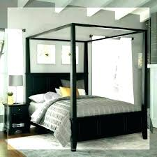 Black Canopy Bed Curtains Full Size Of Home Improvement Loans Chase ...