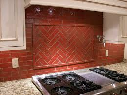 Red Kitchen Tile Backsplash Decorations Awesome Red Glass Tile Backplash Ideas For Kitchen