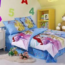 blue disney princess kids bedding set yellow solid wood storage white fur rug numeral wall decal