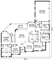 First floor plan of traditional house plan modify to add stairs and a front hall closet mud room off garage man door extend depth of garage to at least