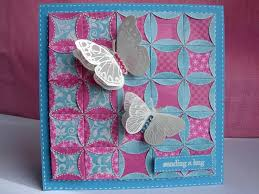 8 best Japanese Folded Patchwork images on Pinterest | Japanese ... & handmade quilt card: Patchwork and Butterflies by heather maria . luv the  folded edge circle design creating flowers sowing the back sid of the paper  in ... Adamdwight.com