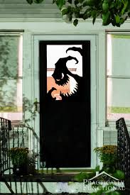 Your doorway is an easy spot to decorate even with a single black paper  sheet.