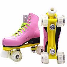 New <b>Kids Double Row</b> Figure Roller Skates Two <b>Line</b> Skating ...