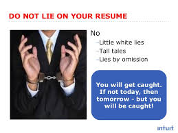 Resume Advice That Works Get In And Get Noticed Beauteous How To Lie On A Resume