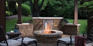 brick contemporary outdoor fireplace designs