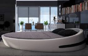 Bisini King Size Round Bed Leather Round Bed Double Round Bed
