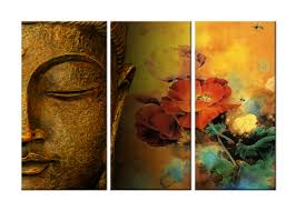 buddha and flowers modern canvas art wall decor religious canvas wall art stretched framed on religious wall art canvas with buddha and flowers modern canvas art wall decor religious canvas