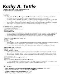sample resume for substitute teacher sample resume for entry level  substitute teacher