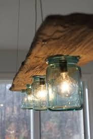 antique diy jar hanging light chandelier with hanging wooden decoration