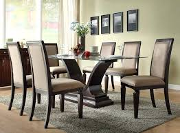 glass top dining tables with wood base marvelous glass top dining tables and chairs dining room