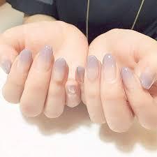 Design Your Own Fake Nails Amazon Com Maimilk Fake Nails With Glue Transparent Grey
