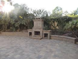 outdoor fireplace san go c and r pavers
