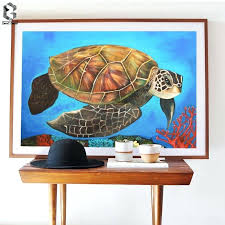 turtle canvas watercolor sea turtle wall art prints and posters canvas painting pictures for living room tortoise kids decoration home decor in painting  on turtle wall art painting with turtle canvas watercolor sea turtle wall art prints and posters