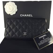 chanel zip wallet. chanel a50097 black classic caviar leather long round zippy wallet chanel zip wallet