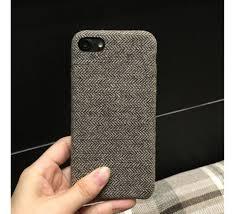 Iphone 6 Plus Cover Designer Jmm Grey Woolen Fabric Texture Designer Soft Cover For Iphone 6 Plus 6s Plus