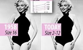 Monroe Size Chart Marilyn Monroe Would Be Anything Between A Size 2 And 12