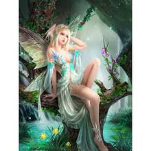 Buy <b>diamond</b> painting elf girl and get free shipping on AliExpress.com