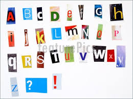 ransom letter generator picture of newspaper clipping colorful alphabet
