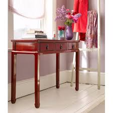 red hallway table. pin it red hallway table t