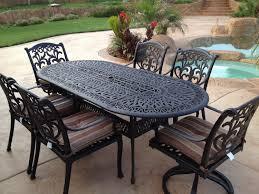 patio furniture white. Decorative Oval Wrought Iron Patio Table Furniture White