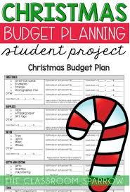 Christmas Math Project Personal Finance Budgeting And