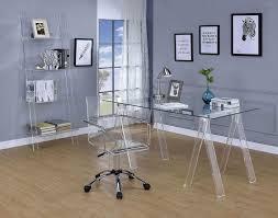 Image Fc640 Curacao Contemporary Clear Acrylic Office Chair