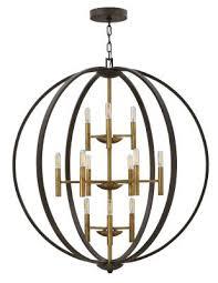 euclid 12 light foyer pendant spanish bronze