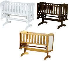 Lockable Bedroom Furniture Saplings Glider Lockable Rocking Crib Cradle Baby Child Nursery