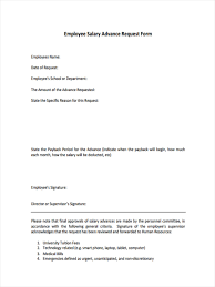 Employee Advance Form 24 Sample Employee Request Forms 4
