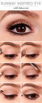 wedding makeup for brown eyes lulus how to runway inspired black eyeliner makeup