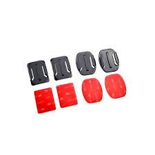 2x <b>Flat</b> & <b>Curved</b> Helmet Mounts 3M Adhesive Pads for <b>GoPro</b> Hero ...