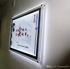2018 acrylic backlit poster frames a1 poster size crystal frame led light boxes from lillianms2010 547 74 dhgate com