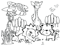 Farm Coloring Pages Free Beautiful Animals Zoo Animal Colouring