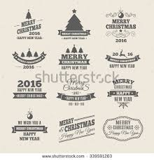 Royalty Free Vintage Christmas Insignia Set Vector 226812169