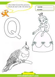 Small Picture Kids Under 7 Letter Q Worksheets and Coloring Pages